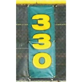 HRB101 - Grand Slam Fencing - 3 Vertical Home Run Distance Banners