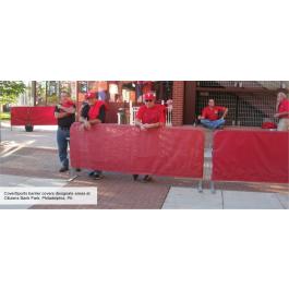 Crowd Control Steel Barrier Cover (8 oz Mesh Windscreen)