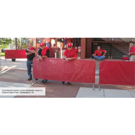 Crowd Control Steel Barrier Cover (13 oz Solid Vinyl)
