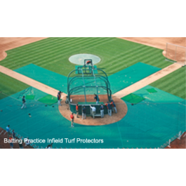 BPIP20x20x60S - FieldSaver Batting Practice Infield Protector 20' x 20' x 60' (Standard Mesh)