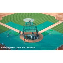 FieldSaver Batting Practice Infield Protector 25' x 20' x 70' (Standard Mesh)