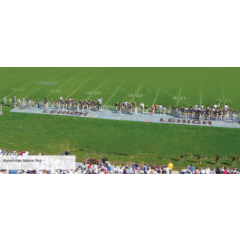 FFST14x75-16PG - FieldSaver Football Sideline Tarp with Grommets 14' x 75' (Premium 15 oz)