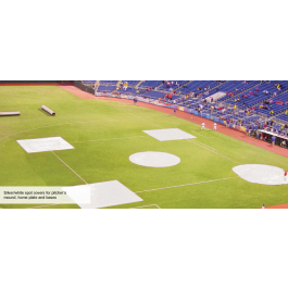 FSSC-18BCVS - FieldSaver Spot Cover 18' Base or Little League Home Plate Cover with Sandbags (Vinyl)