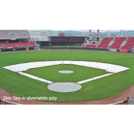 Two-Piece Arched Skin Tarp Set Baseball (Silver/Black)