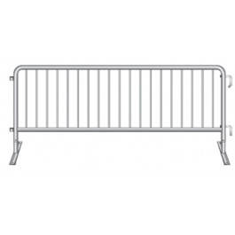 CCSB-BF - Crowd Control Steel Barrier with Bridge Foot
