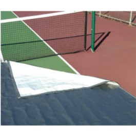 FieldSaver Tennis Court Cover 6oz Poly (Silver/White)