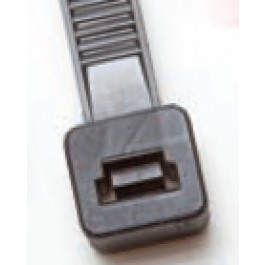 """plastic-ties-8in-120-tensile - Black Plastic Cable Ties - 8"""" long, 120 lb tensile (100 Count)"""