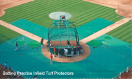 BPIP15x20x50S - FieldSaver Batting Practice Infield Protector 15' x 20' x 50' (Standard Mesh)