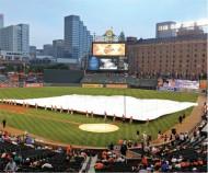 FS60005 - FieldSaver Infield Rain Cover Full Skin Area of Softball Field Arched