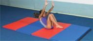 "EFGM-25C4s - EnviroSafe Folding Gym Mat (2.5"" Extra-Firm/Soft Combo Foam) - 4 Sided Hook & Loop"