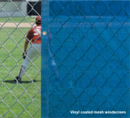 VCP1800-5h - FenceMate Solid Vinyl Windscreen 5' High
