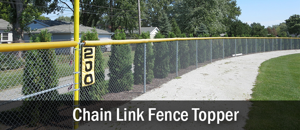 Chain Link Baseball Fence Topper
