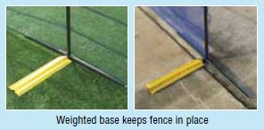 Above-ground Grand Slam Fencing weighted base
