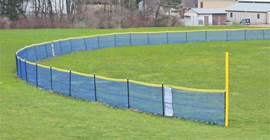 Blue Grand Slam Fence